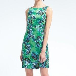 NWOT Banana Republic green & blue floral dress